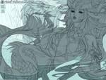 The Jade Dragoness - Line Art