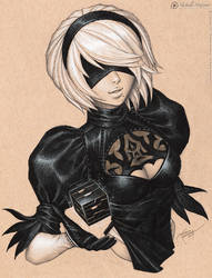 2B - NieR: Automata by MichelleHoefener