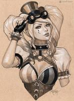 Steampunk Harley Quinn by MichelleHoefener
