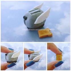 Flying Toaster Figurine! by StupidSiren