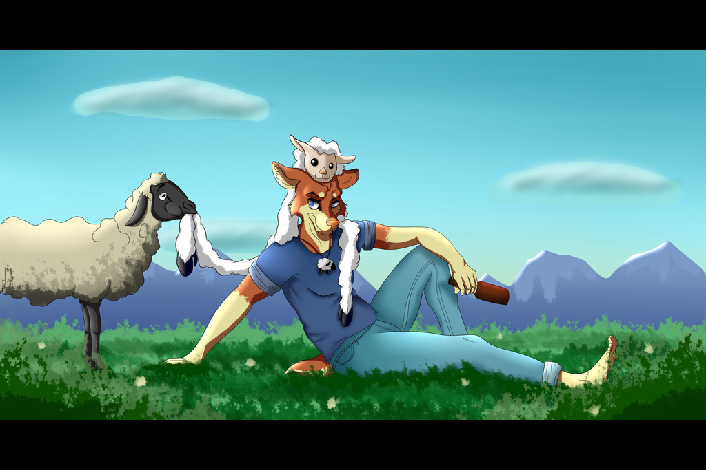 .:Sheep Dinner:. by Panacea-for-Placebo