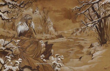 Elfe des neiges by Obsidiurne-Morgil