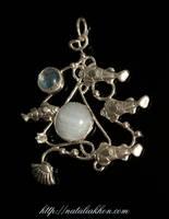 Sea silver pendant by nataliakhon