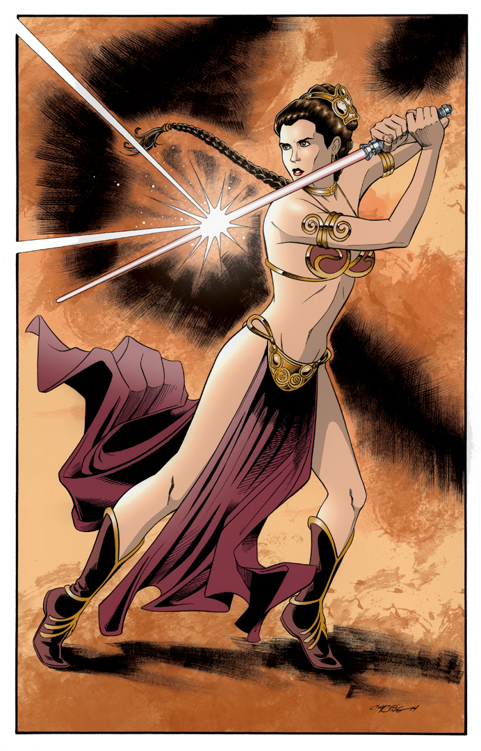 Leia in color by 93Cobra