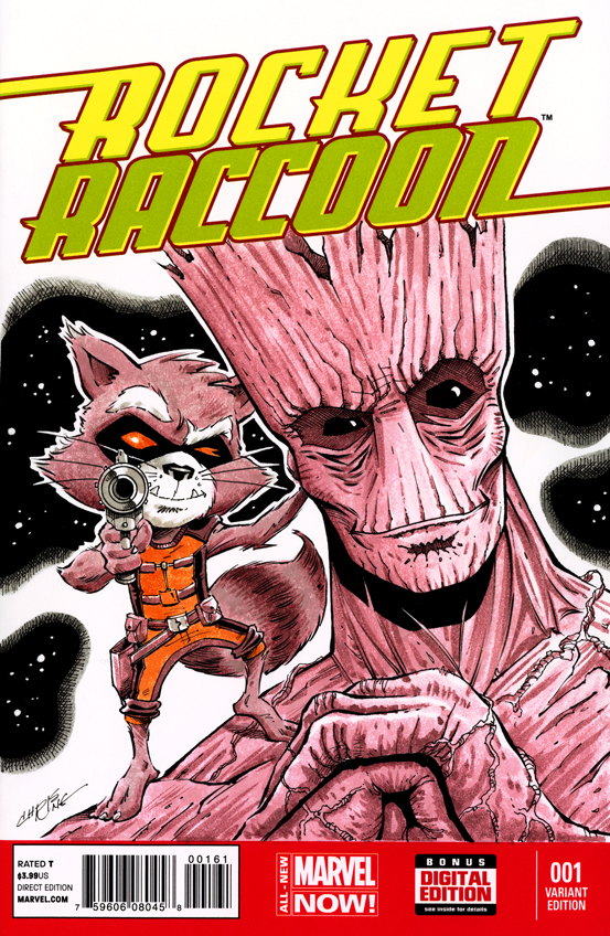 Rocket Raccoon Sketch Cover by 93Cobra on DeviantArt