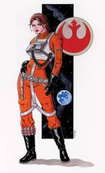 Rogue Squadron Leia by 93Cobra