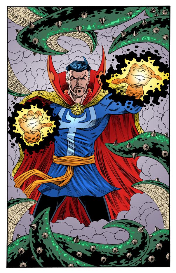 Dr. Strange colored by 93Cobra