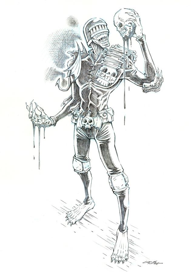 Judge Death pencils by 93Cobra