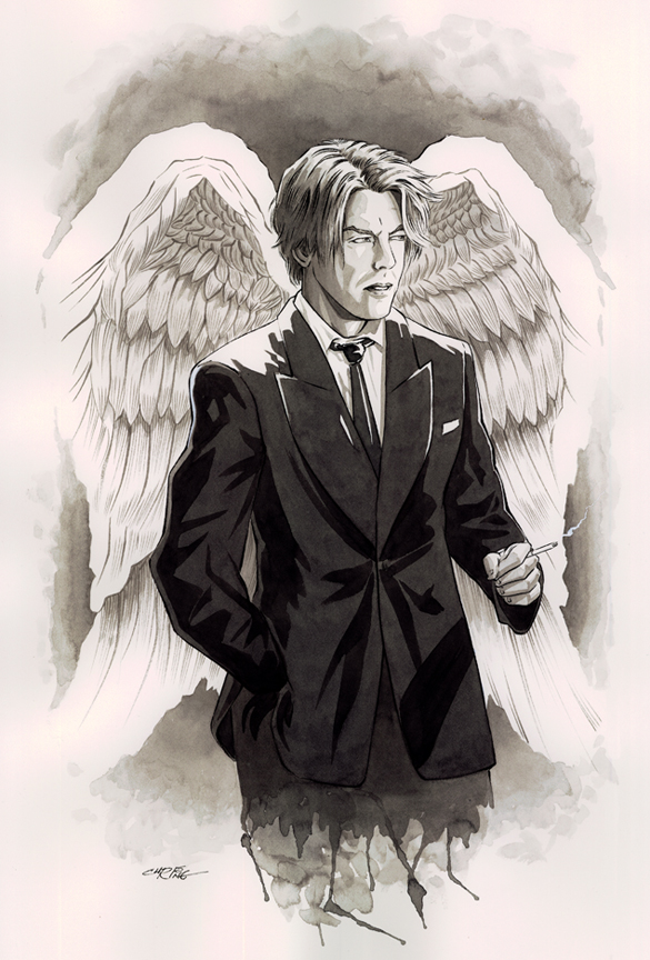 David Bowie as Lucifer from Sandman series by 93Cobra