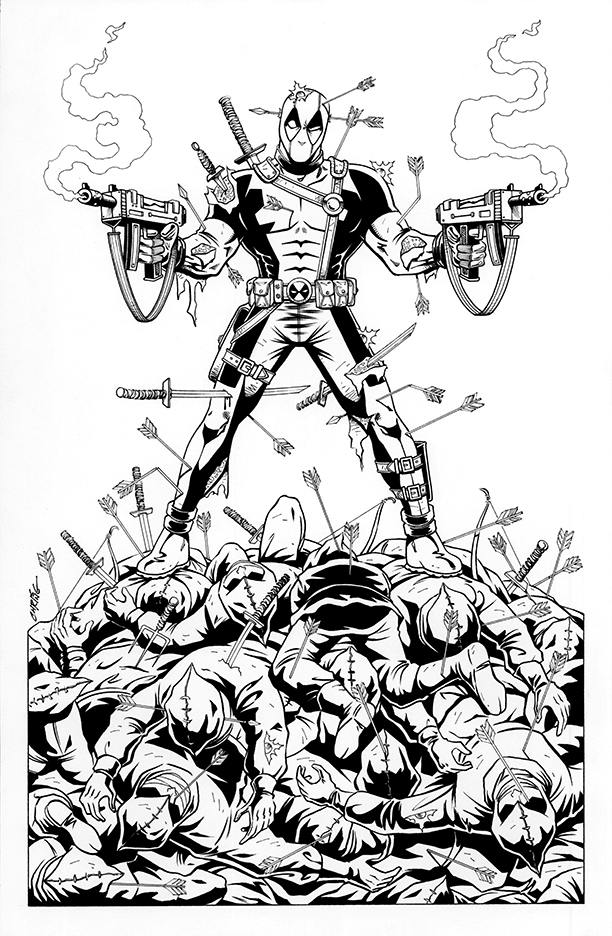 Deadpool-vs-The Hand by 93Cobra