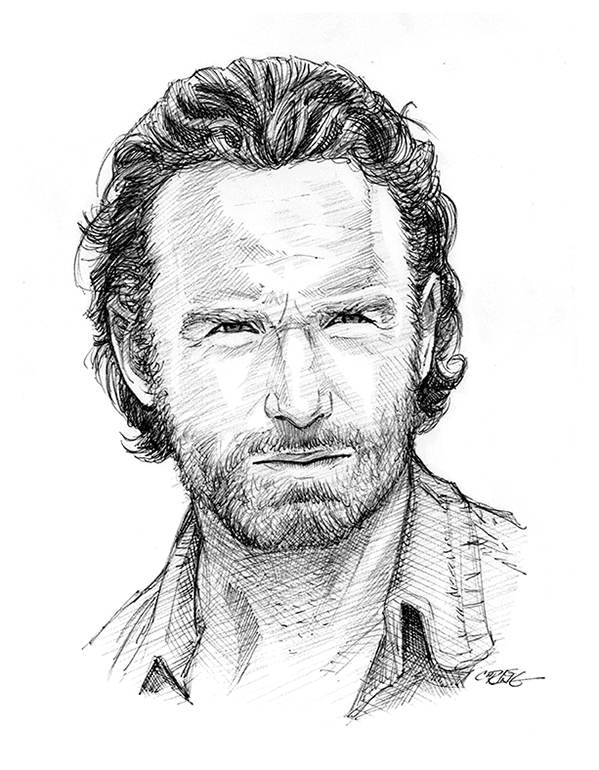 Rick Grimes scribble by 93Cobra