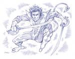 Nightcrawler pencil sketch