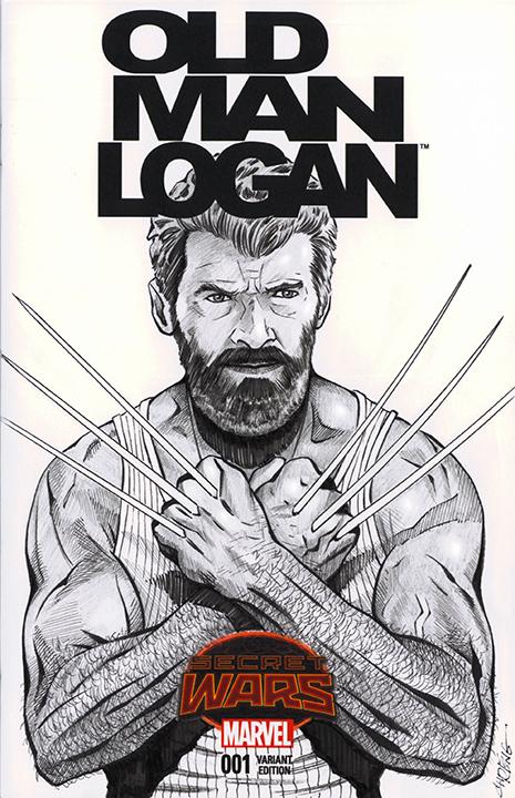 Old Man Logan Sketch Cover by 93Cobra