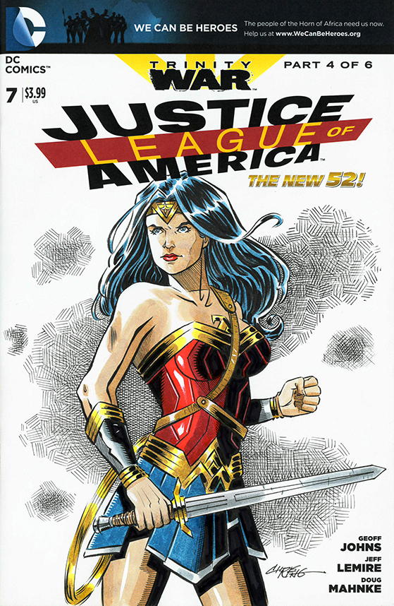 Wonder Woman sketch cover by 93Cobra