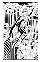 Jimmy Olsen as Superman by 93Cobra