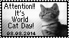 It's World Cat Day Stamp by poserfan