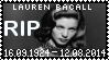 R.I.P. Lauren Bacall Stamp by poserfan