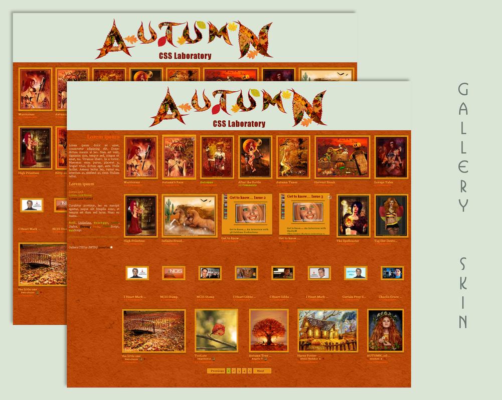 Seasons Autumn Gallery CSS Vol.1 by poserfan
