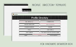 Stylish B/W Profile Directory Vol.1 by poserfan