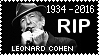 R.I.P. Leonard Cohen Stamp by poserfan