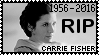 R.I.P. Carrie Fisher Stamp by poserfan