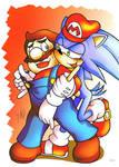 SEGA loves Nintendo +coloured+