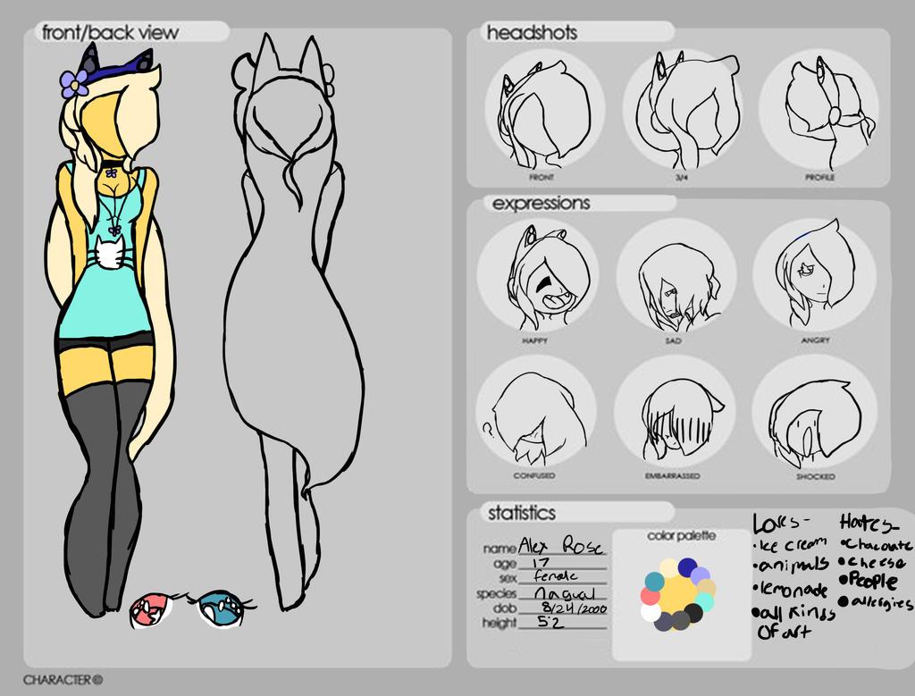New Persona Ref by emmbug124