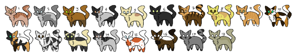 3 point cat adopts    {CLOSED} by emmbug124