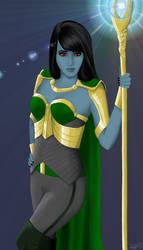 Sassy fem!Jotun!Loki by PinkTribble