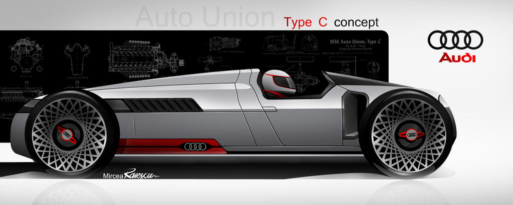 Modern Version Auto Union Type C Concept Rendering