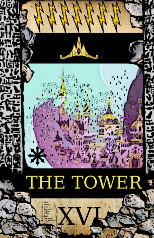 pony tarot - the tower by Dekiel00