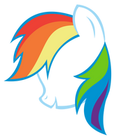 Rainbow Dash Silhouette Vector by 1414HolyFlanders