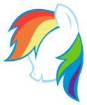 Rainbow Dash Silhouette Vector