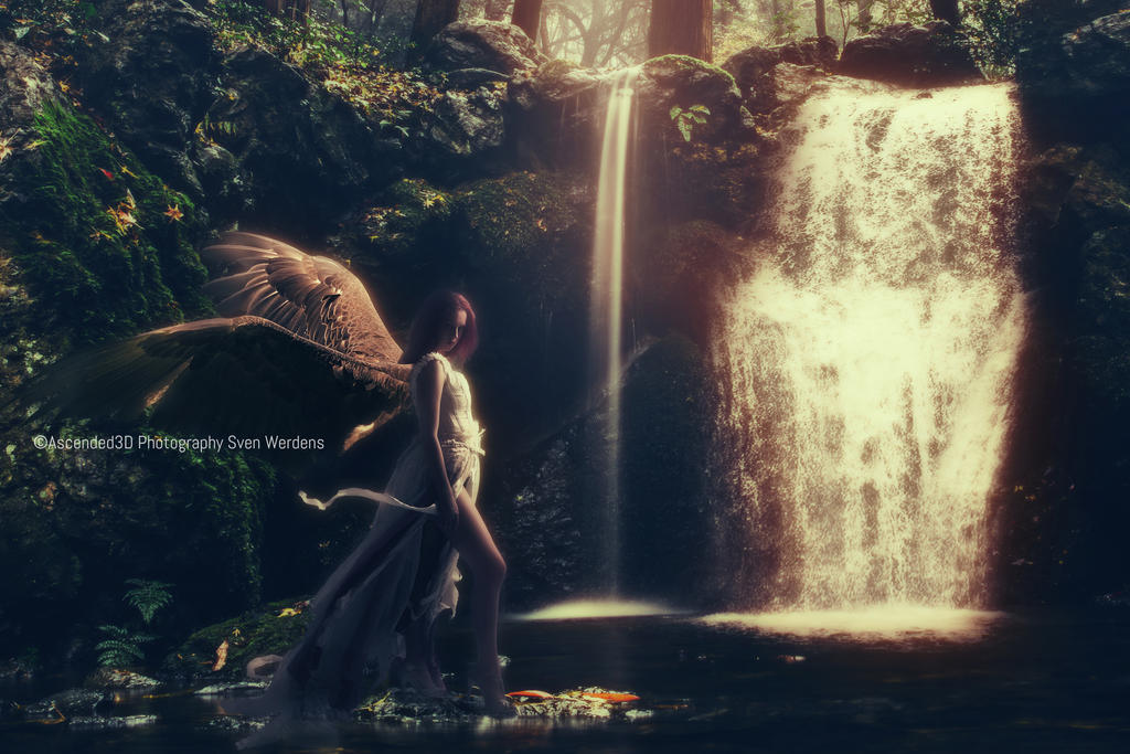 Waterfall Angel by Ascended3D