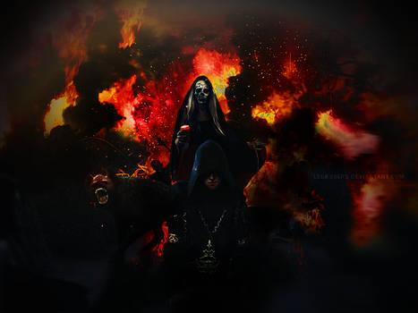 Flaming Death | Photomanipulation / Blend