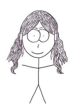 Constance Courte caricature