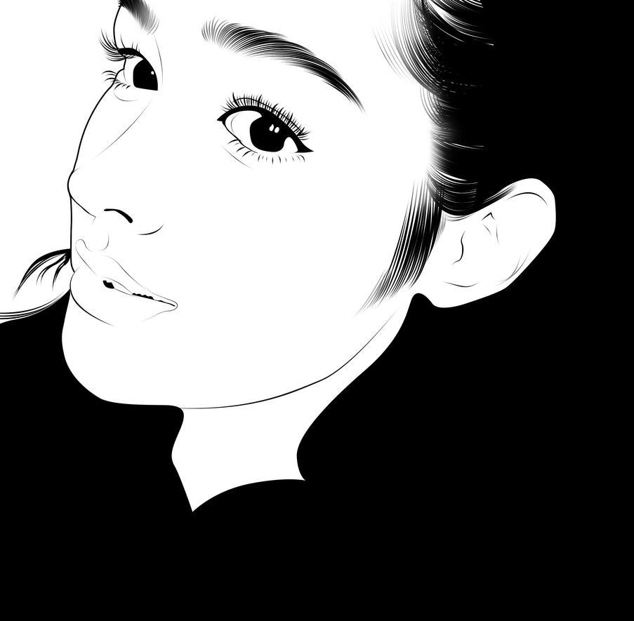 Liza x Ariana line art by puradworks