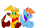 Ty MLP: Ty And Rainbow Dash