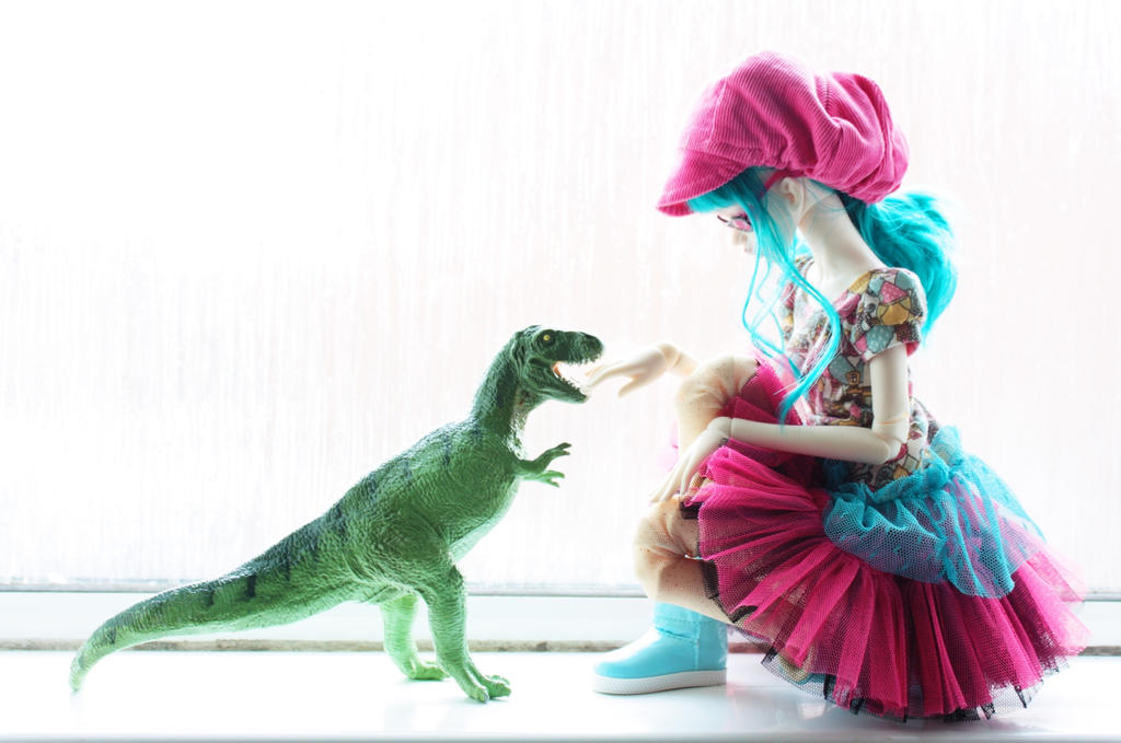 Don't pet the dinosaurs. by DeborahChampion