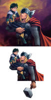 thor and loki by 3393339