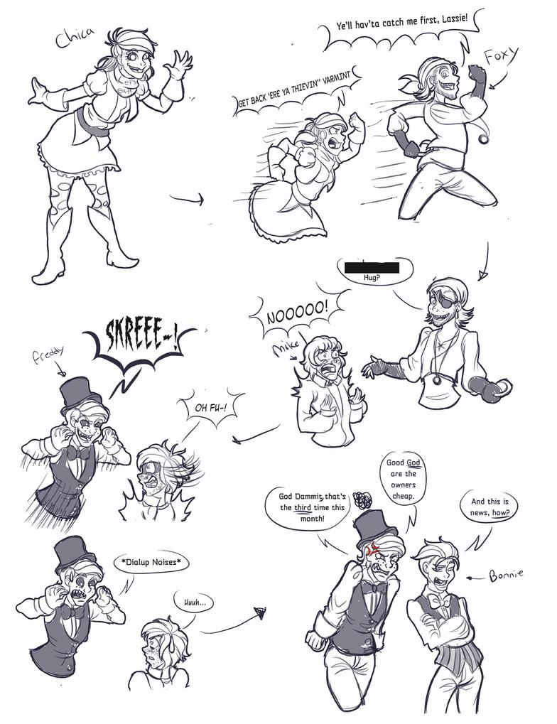 FNAF doodles by ChaoticArtCrazy