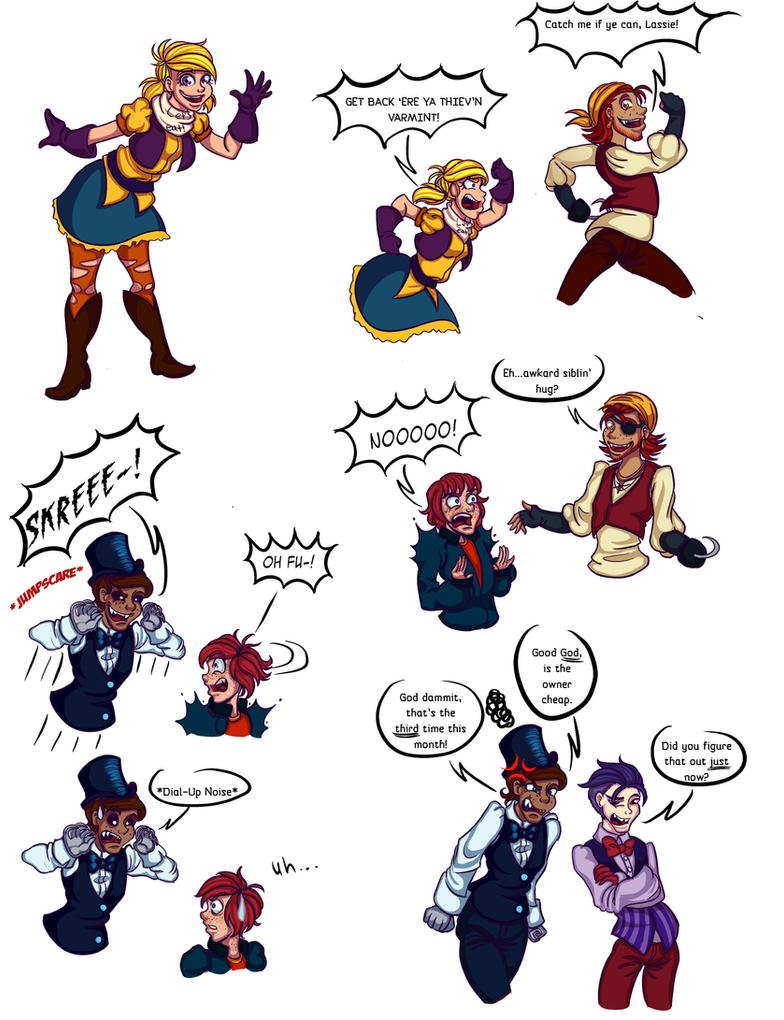 FNAF doodles 2 by ChaoticArtCrazy