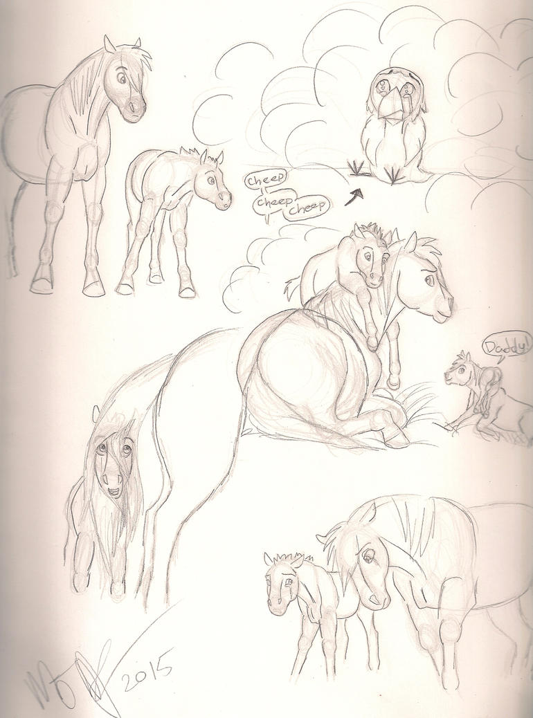Samson and Adrian Sketches by Blu-Blood