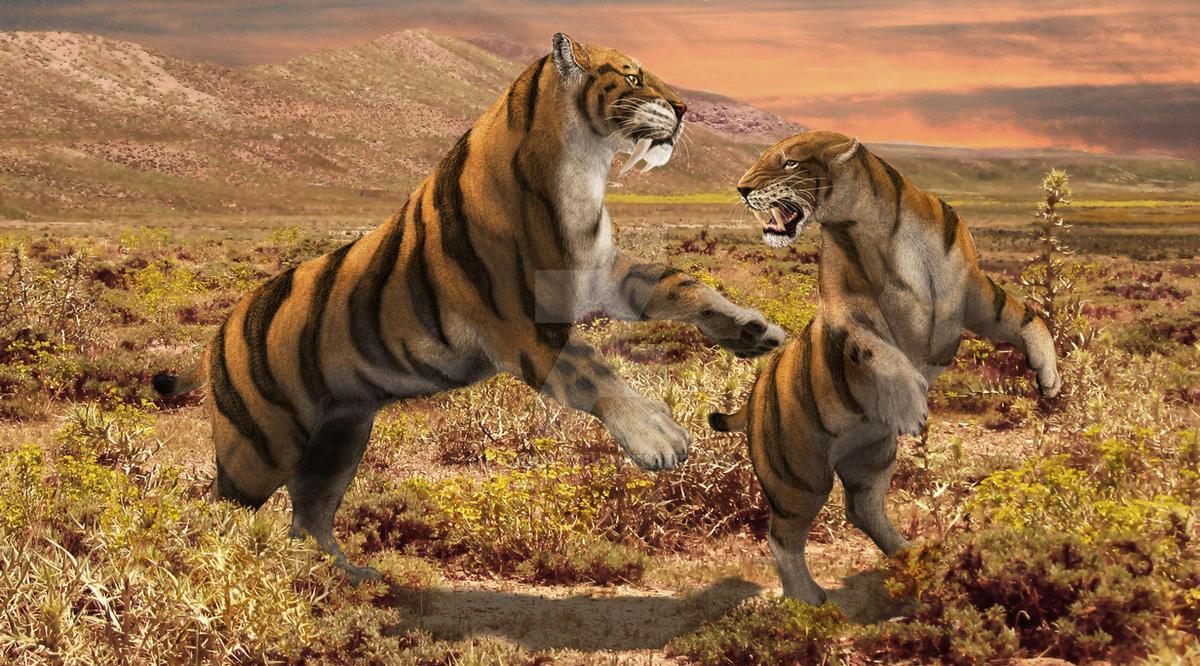 Smilodons: Leave me alone!! by Leogon