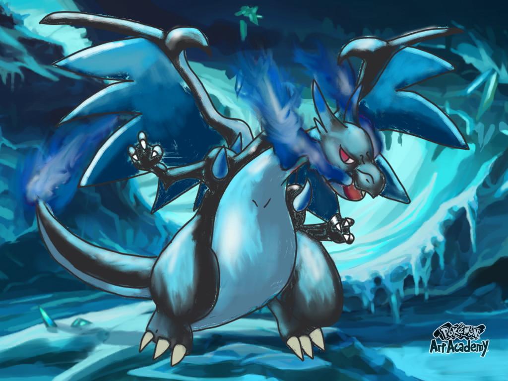 Mega Charizard X by Easle-Darkpaws