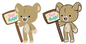 Teddy Bear Chibis, lineless and no.