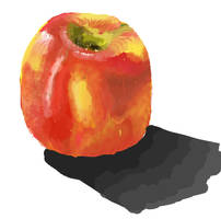 Digital Painting - Apple by RedCaliburn