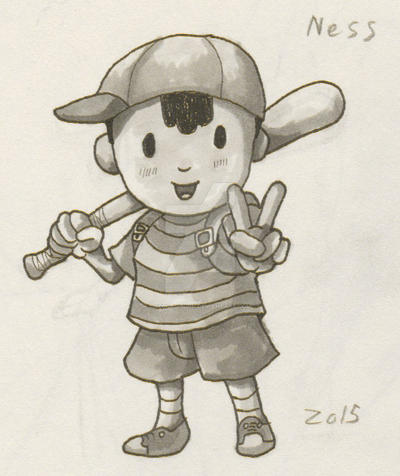 Earthbound/Mother - Ness Drawing by RedCaliburn