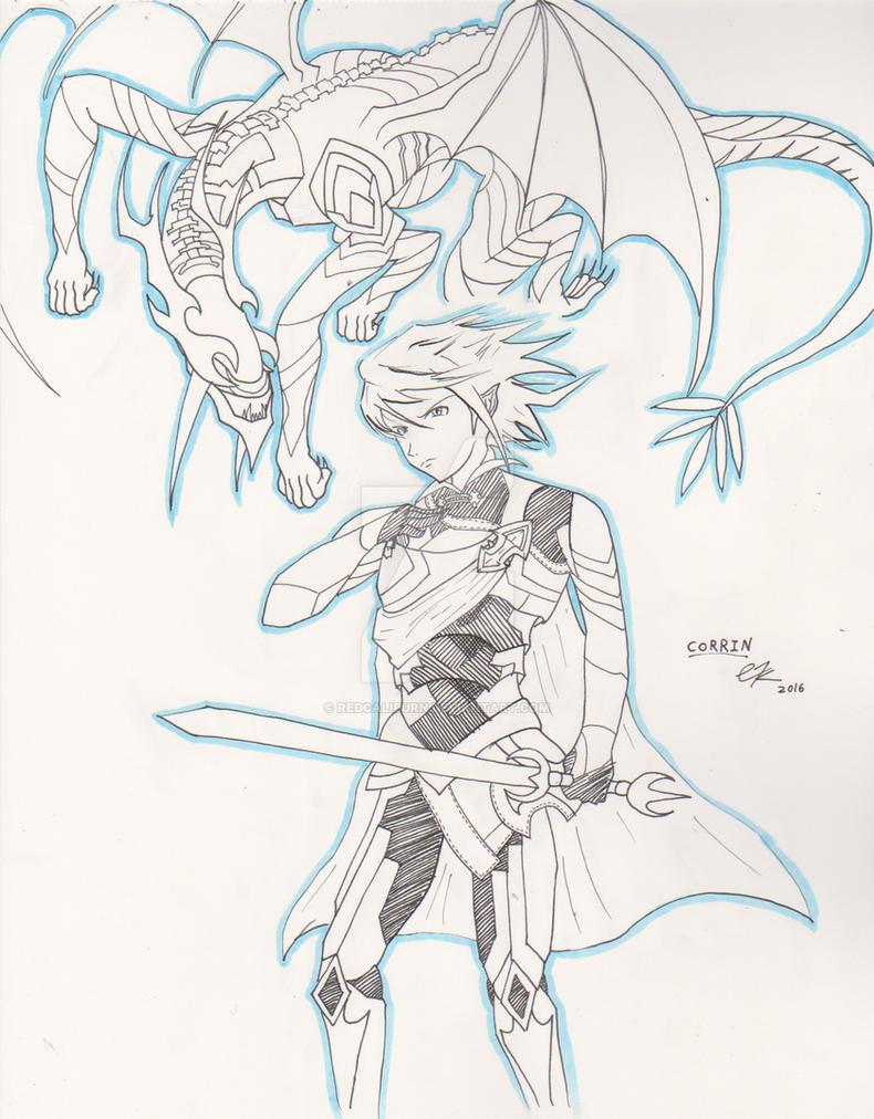 Fire Emblem Fates Corrin + Dragon Form Sketch by RedCaliburn on ...