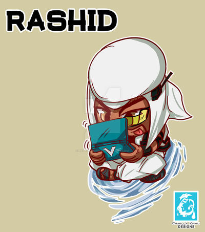 Street Fighter V -  Rashid [Maplestory Style] by RedCaliburn